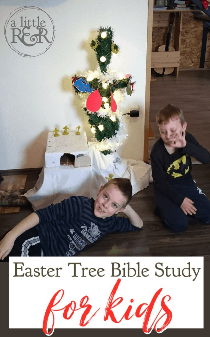 Christmas Bible Study 2020 Easy DIY Easter Tree Study for Kids in 2020 | Bible study for kids