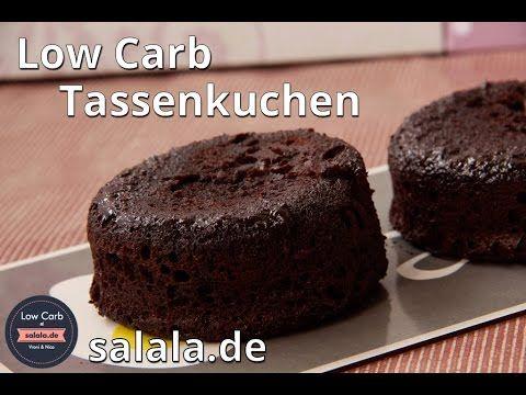 Low Carb backen Tassenkuchen - schneller Schokokuchen aus der Mikrowelle