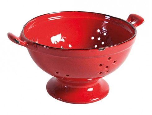 Vecchio Smalto - 1950AC - Large Colander - Red