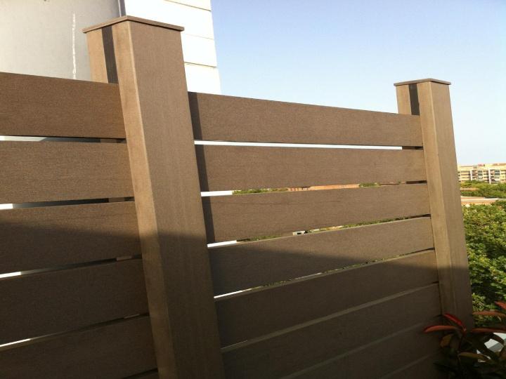 8 best vallas de exterior de madera sinteticas images on for Muro de separacion terraza