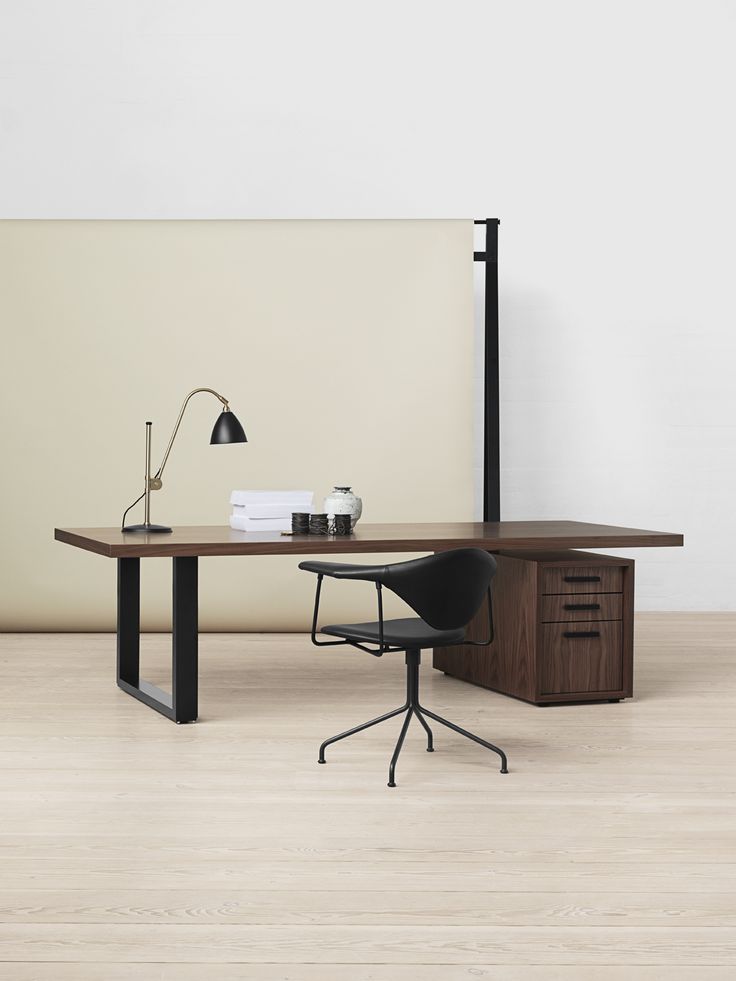GUBI - Masculo Swivel Chair, Beatle Lamp and GO-Desk Master