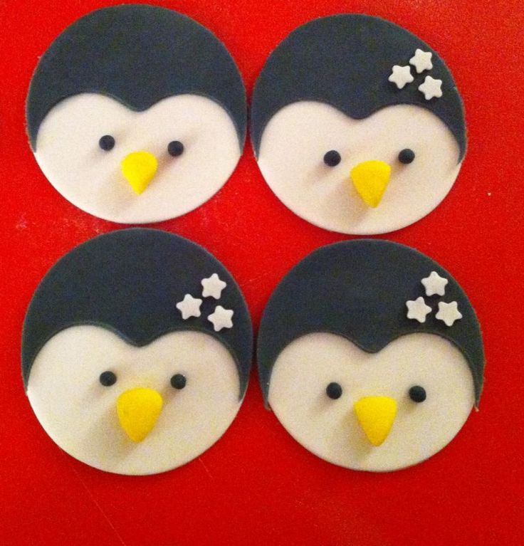 Pinguin cupcake toppers