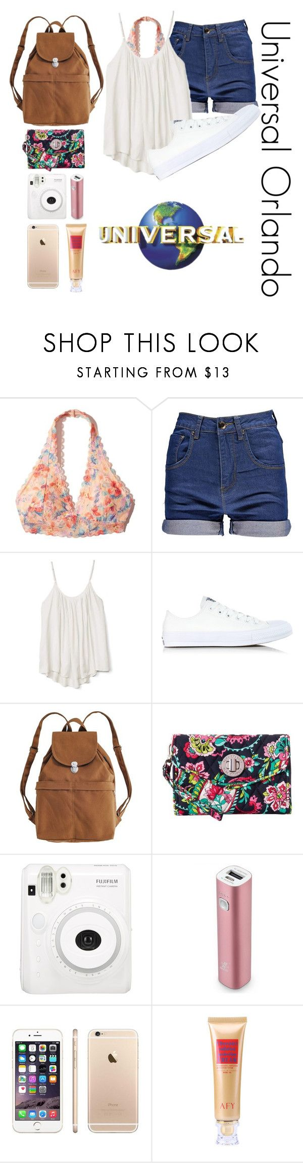 """Universal Studios // Theme Park Essentials "" by sydthekyd01 on Polyvore featuring Hollister Co., Boohoo, Gap, Converse, BAGGU, Universal Studios, Vera Bradley and Samsung"