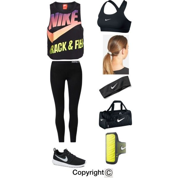 Nike track and field outfit by amberpend on Polyvore featuring polyvore, fashion, style, NIKE and L. Erickson