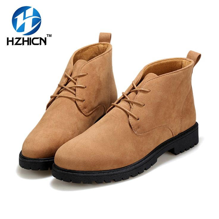 HZHICN Lace Up Thigh High Ankle Men Boots Fashion Shoes New Chelsea Boots For Men Casual Boots Shoes Botines Hombre Size 39-44 #Affiliate