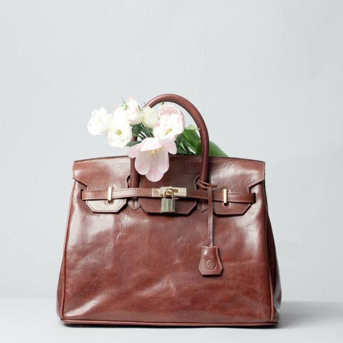 Schön echte ledertaschen damen