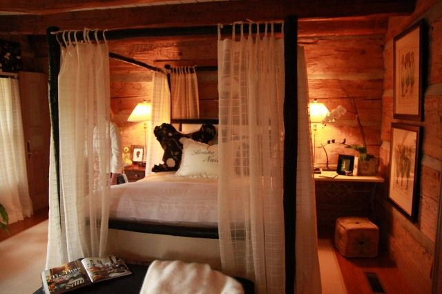 #cabin Bedroom   Blog Shows Decorating Before U0026 Afters   Chinking   Poster  Bed