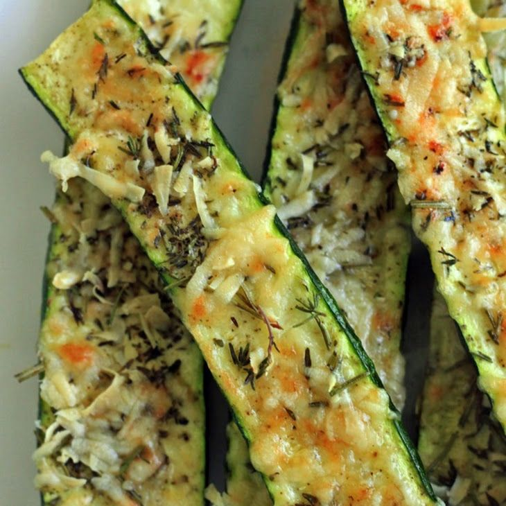 Crusty Parmesan-herb Zucchini Bites Recipe Appetizers with zucchini, fresh parmesan cheese, fresh rosemary, olive oil, pepper, salt