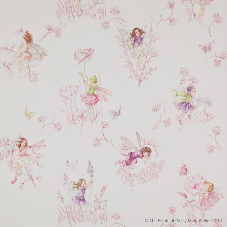 Wallpaper-Jane Churchill MEADOW FLOWER FAIRIES By the Roll Pink/Cream/Blue/Lilac/Aqua by SouthernShadesHome on Etsy https://www.etsy.com/listing/268692924/wallpaper-jane-churchill-meadow-flower
