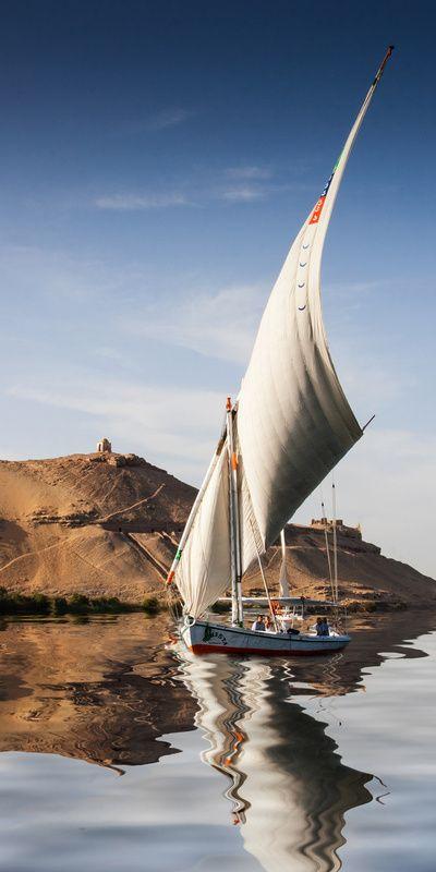 Como para que deje navegar su imaginación por el Río Nilo, Egipto.