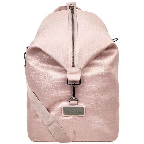 Adidas By Stella McCartney Studio Bag (1 300 SEK) ❤ liked on Polyvore featuring bags, handbags, pink purse, pale pink handbag, adidas, pink handbags and pale pink purse