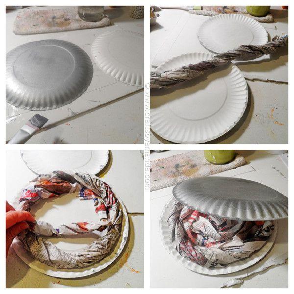 Make a fun paper plate flying saucer from CraftsbyAmanda.com @amandaformaro