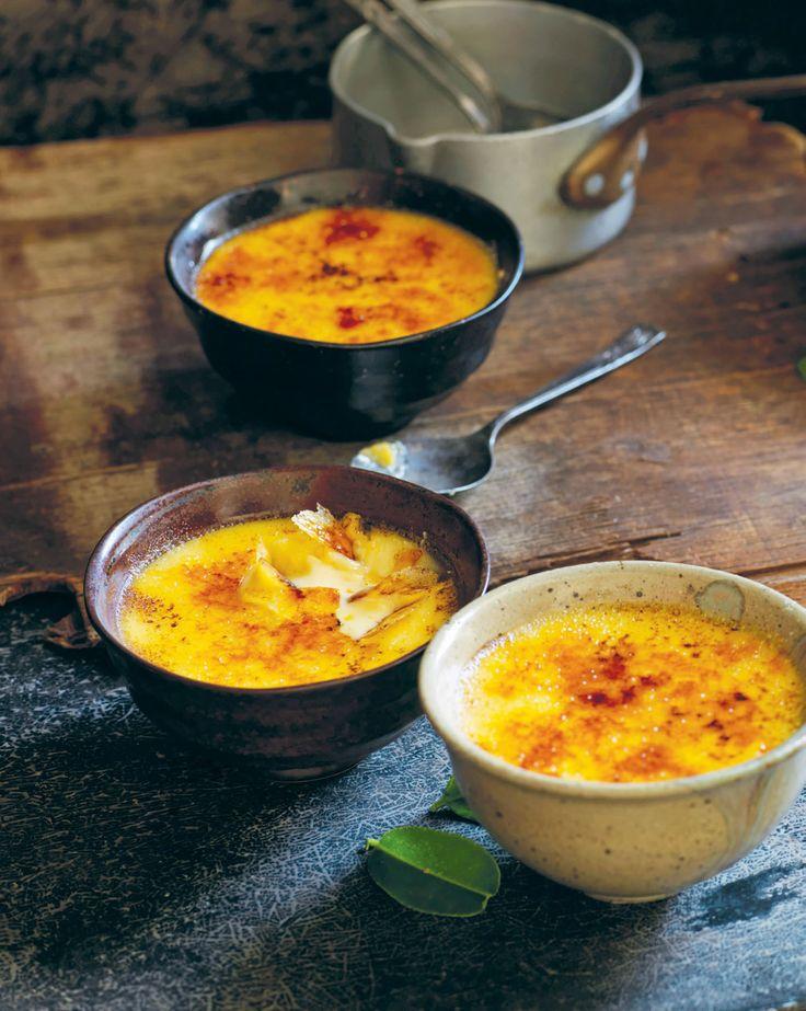 Kaffir lime & lemongrass crème brûlée recipe from Luke Nguyen's France by Luke Nguyen | Cooked