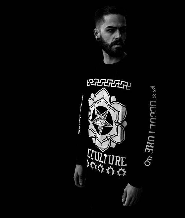 """Baphomet Occulture"" Longsleeve Tall Tee Available at www.crmc-clothing.co.uk | WE SHIP WORLDWIDE                                      Model - Jordan Thomas                    Photography - JT Photography #Sayagata #enneagram #Occulture #occultwear #Pentagram #altfashion #alternative #fashionstatement #fashionista #fashionoftheday #dailyfashion #grungefashion #grunge #satan #chakra #alternativeguy #alternativeboy #alternativegirl #lotus #longsleeve #love #occult #Baphomet #fashion"