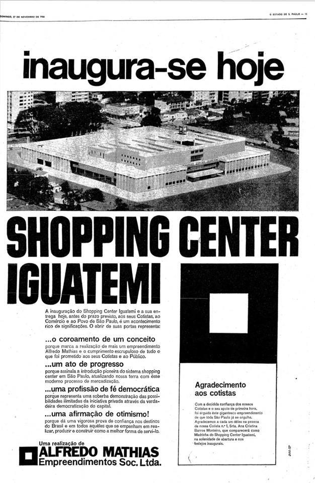1966 - Shopping Iguatemi.