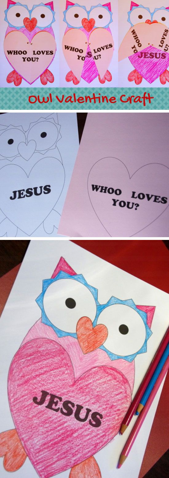 Owl Valentine with Printable | DIY Valentines Crafts for Kids to Make