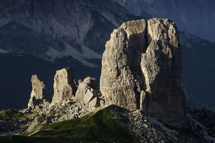 "Cinque Torri, in the Dolomites, where Arnold Fanck, filmed in 1924 ""Das Berg des Schiksal"" (The mountains of destiny) with Luis Trenker."