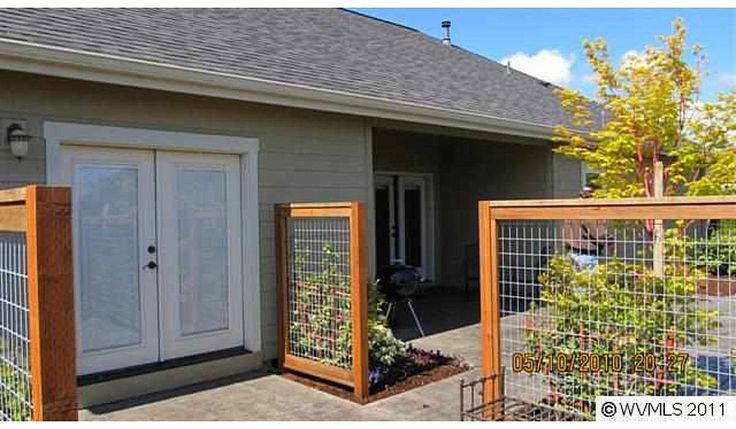 Love the idea of the see through trellis fence for the sides of the property we don't need that much privacy...so we could still see the kids on the driveway while sitting on the patio.