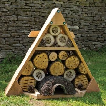 Designed to support the teaching of minibeasts, this impressive habitat provides a home for pollinators, beneficial insects, mini mammals and hedgehogs.
