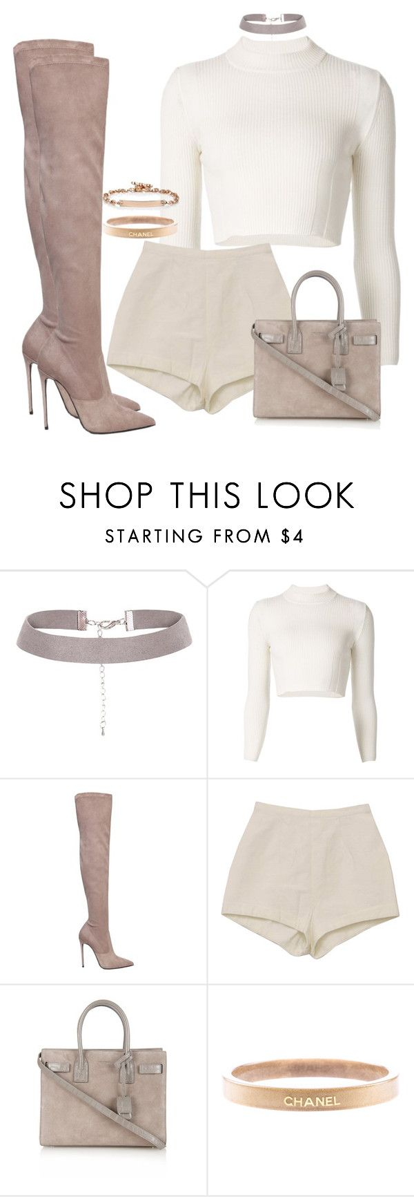 """Untitled #566"" by iloveivonne on Polyvore featuring Maison Margiela, Le Silla, Yves Saint Laurent, Chanel and Hoorsenbuhs"