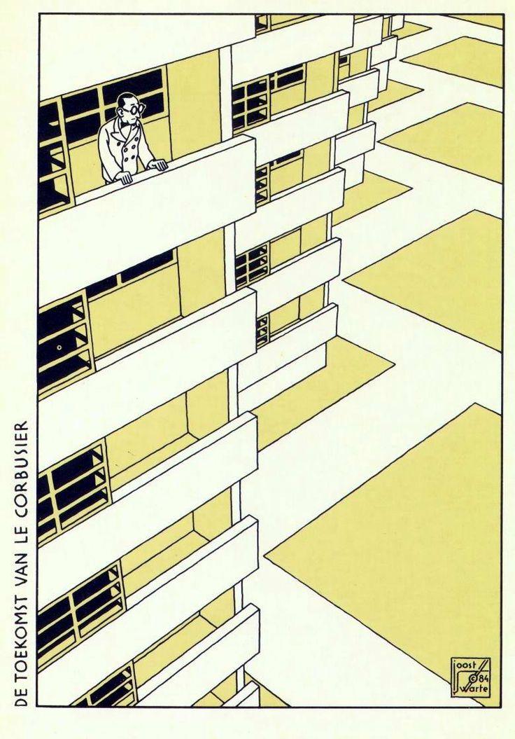 9emeart:    Le Corbusier  Joost Swarte