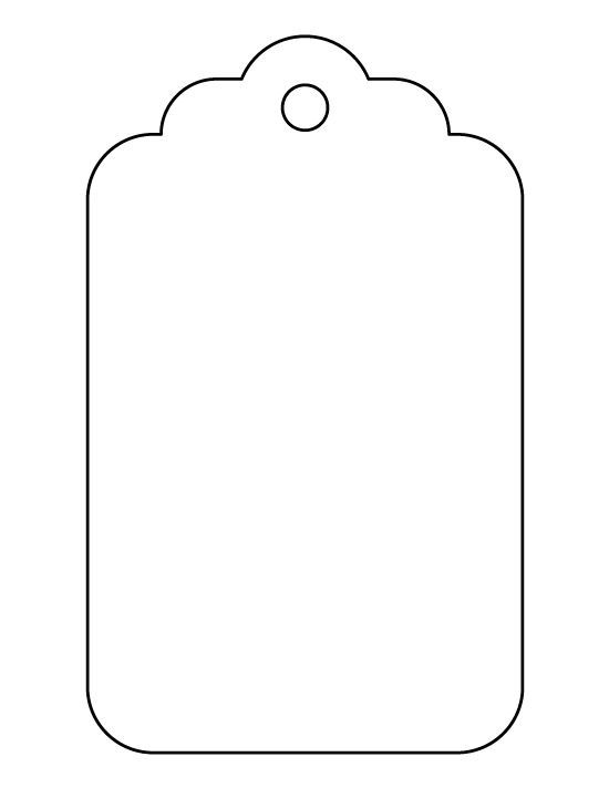 Large gift tag pattern. Use the printable outline for crafts, creating stencils, scrapbooking, and more. Free PDF template to download and print at patternuniverse.c...