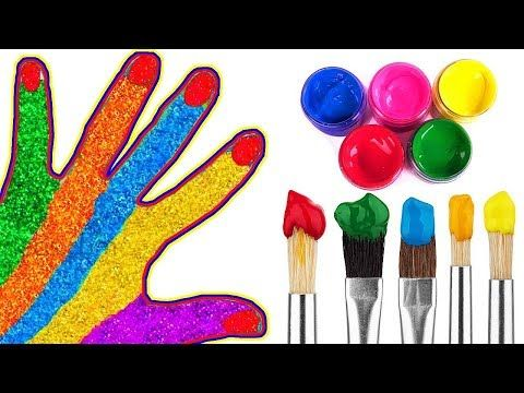 Learn colors with Colored Hands Nursery Rhymes Song for Toddlers and Babies Kids Family Finger Songs - YouTube