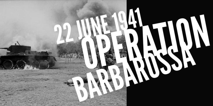 22 June 1941. Hitler invades The Soviet Union in Operation Barbarossa