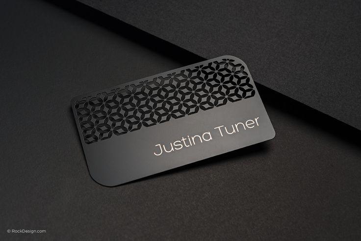 Quick Turnaround Time - Laser Engraved Black Metal Business Cards