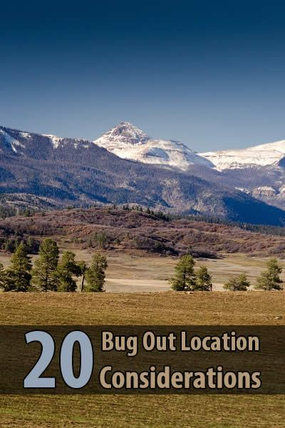So what sort of features should you look for in a good bug out location? @tinhatranch wrote an awesome article about this.