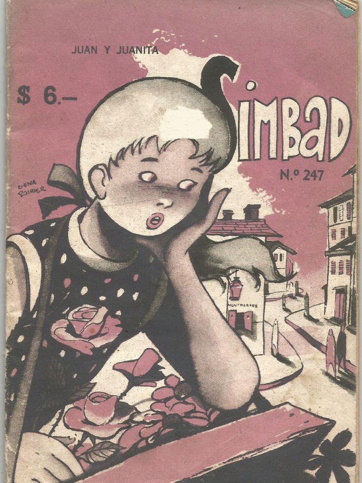 Portada de la revista Simbad por Elena Poirier (1954)