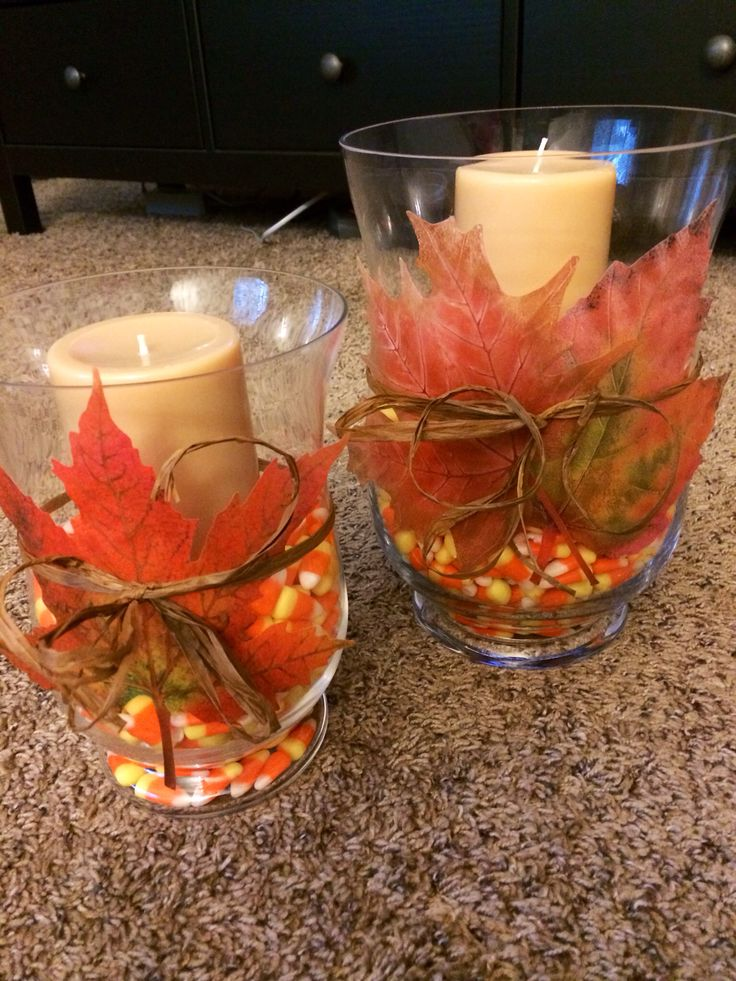 Fall crafts DYI - everything can be purchased at Michael's!
