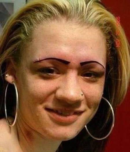 wow. 14 Hilarious Eyebrow Fails - Oddee.com (eyebrow, hilarious fails)