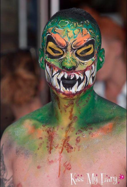 Halloween Monster!!! Bodypaint in Ibiza