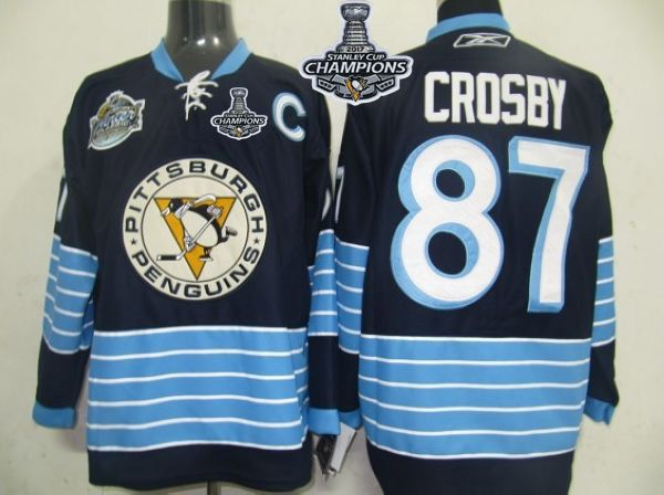 c1e05aed63f spain stitched nhl jersey penguins 87 sidney crosby dark blue 2011 winter  classic vintage 2017 stanley