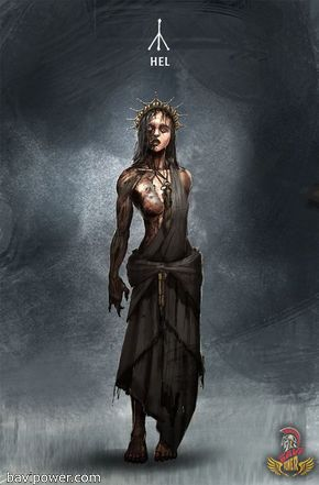 Hel  The only daughter of Loki, Hel, was banished into the land of Helheim located deep under the root of Yggdrasil tree. There, Hel built up her own kingdom of the dead and presided over that place.