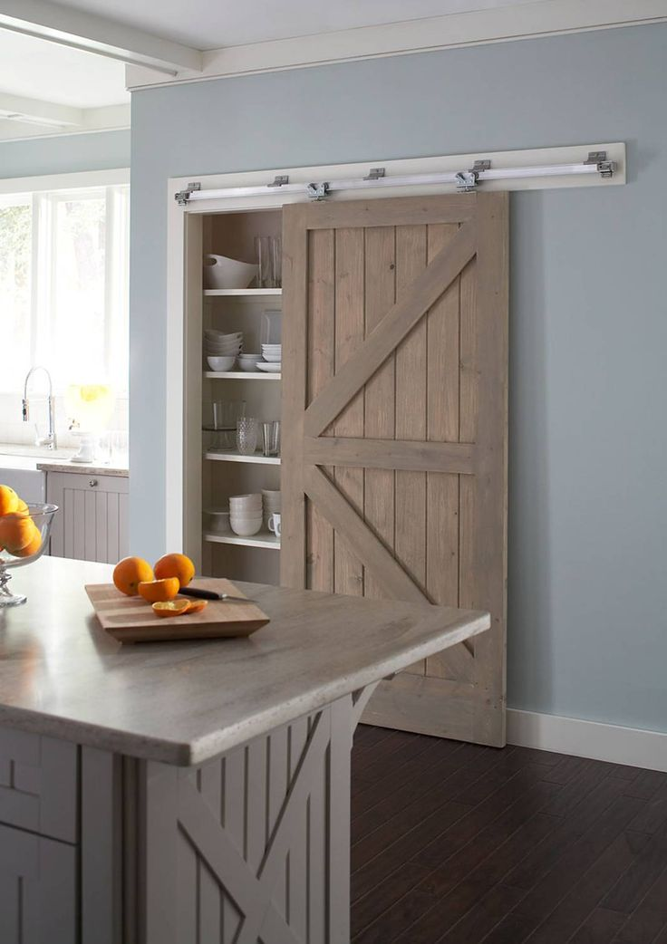 This new sliding door hardware package should be of great interest to  anyone looking to gain. Barn Door PantryPantry ...