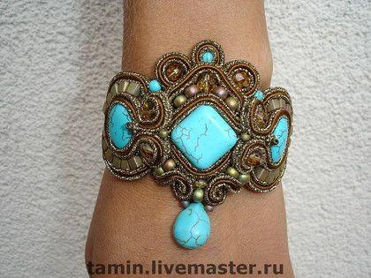 Firuza Браслет 2 - браслет,сутажная вышивка,сутажное украшение,бирюза