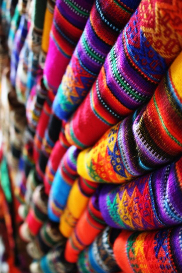 Cuzco, Peru, weaving, woven.  The colors are vibrant, alive and welcoming...just like the people.