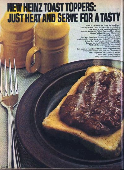 Dear Lord They Re Not Jam Heinz Toast Toppers 1970s Heinz Toast Toppers Vintage Recipes