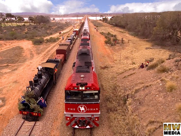australian trains - old and new The Ghan