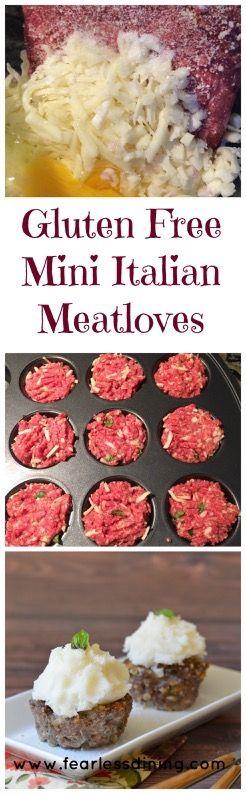 Gluten Free Mini Italian Meat Loaves  http://www.fearlessdining.com
