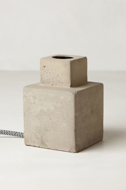 Paved Square Lamp Base - anthropologie.com