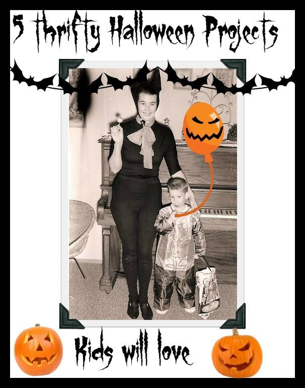 cheap and thrifty Halloween ideas for a budgeting family.Frugal ideas for fun Halloween including food and crafts and games