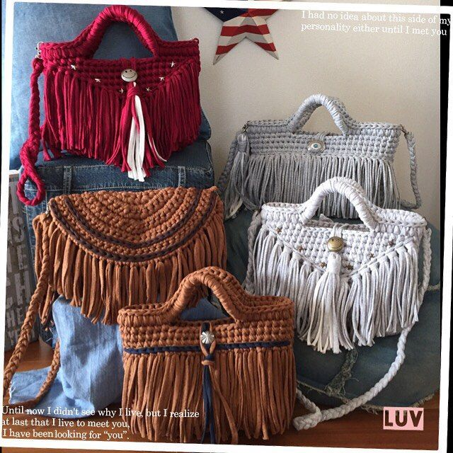 T-shirt yarn purse