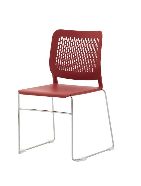 Logik is available as a sled base or four leg base, both versions are stackable #seated #logik #stacking #chair seated.com.au