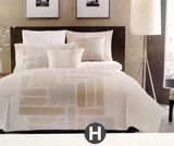 hotel collection modern full queen comforter set beige ivory