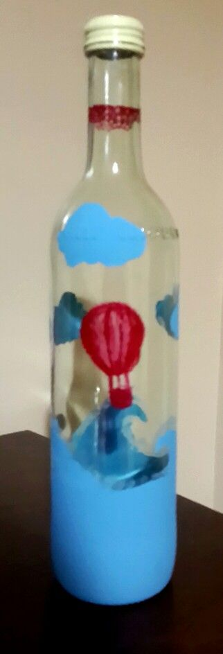 #wine #glass #diy #red #balloon #wave #cloudds