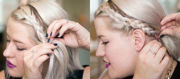 Прически для коротких волос с плетением