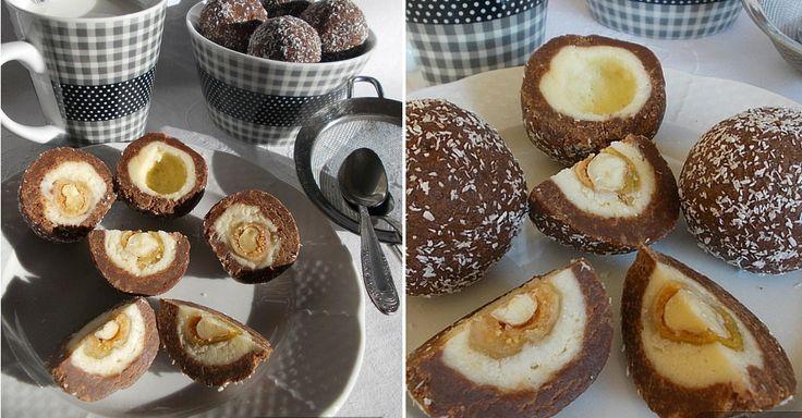 Nepečené cukroví: Trojvrstvé kokosové kuličky s oříškem | Čarujeme